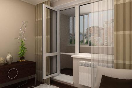 Пластиковая балконная дверь ПВХ