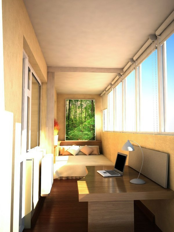 Дизайн лоджии под кабинет