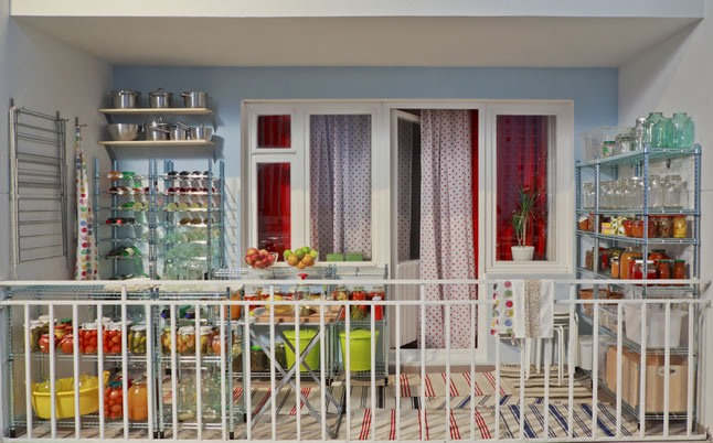 Хранение банок и консервации на балконе