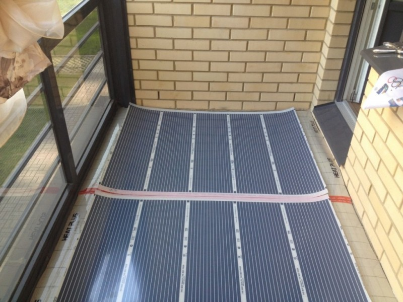 Инфракрасный тёплый пол на балконе