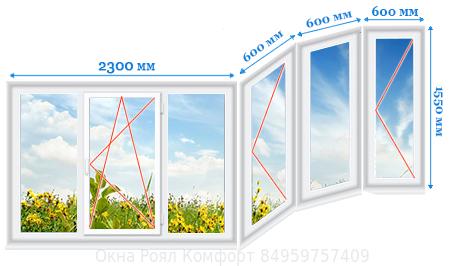 Размеры окон балкона в доме серии П44Т
