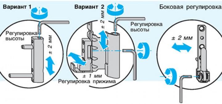 Регулировка балконных дверей своими руками фото