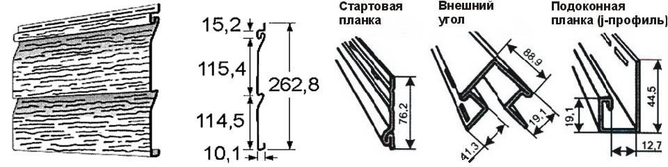 Стандарные размеры панелей сайдинга