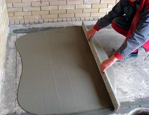 Выравнивание балконной плиты