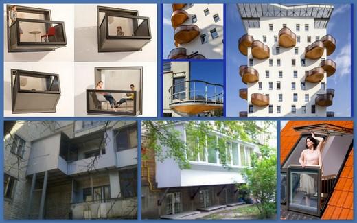 Приставная идея балконов