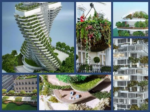 Садовая идея балконов