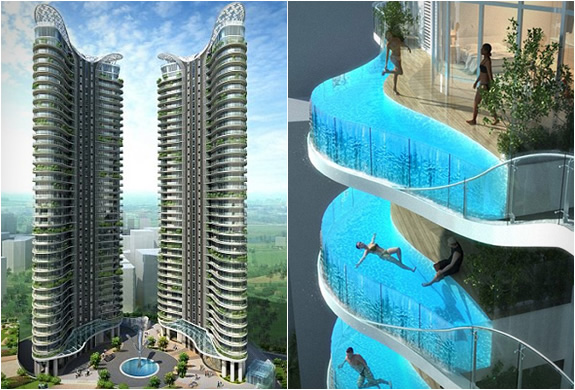 балкон по которому можно плавать