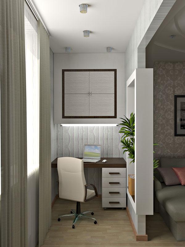 Кабинет на балконе и лоджии: фото дизайна, идеи интерьеров.